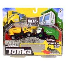 vehicle set boys 7 x 11 cm yellow/green 2-parts