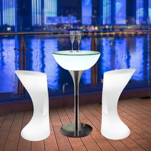 (As Seen on Image) Led Luminous Table / Cafe KTV Bar Outdoor Recreational Furniture Table And Chair