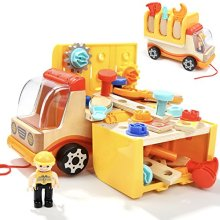 TOP BRIGHT Toddler Tools Toys Set for 2 Year Old Boy Gifts Trucks