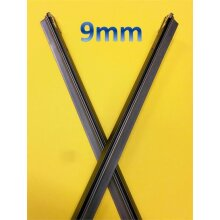 28 inch RUBBER REFILLS FOR 9mm WIDE FITMENT FRONT AUTOMOTIVE WIPER BLADES - 9mm rubbers pair