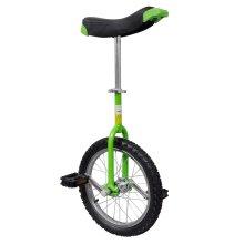vidaXL Adjustable Unicycle 16 Inch Green Balance Exercise Fun Bike Fitness