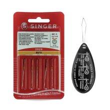 Singer Universal 2020 Sewing Machine Needles Size 80/11, Inc. Threader