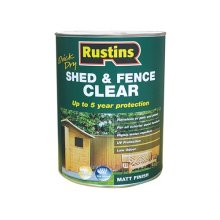 Rustins FSCL5000 Quick Dry Shed and Fence Clear Protector 5 Litre