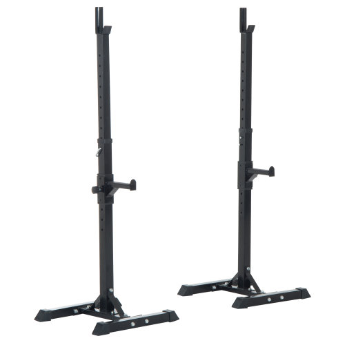Outsunny Weight Bar Barbell Squat Stand Dip Station Lift GYM Fitness Workout