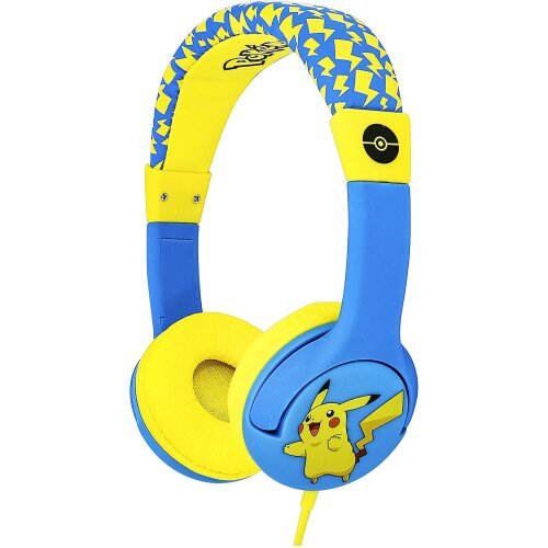 Pokemon Pikachu Children's Wired Headphones with Adjustable Headband