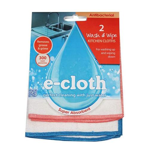 E-cloth Antibacterial Wash & Wipe Cloth x2