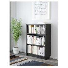 BILLY Bookcase, black-brown 80x28x106 cm