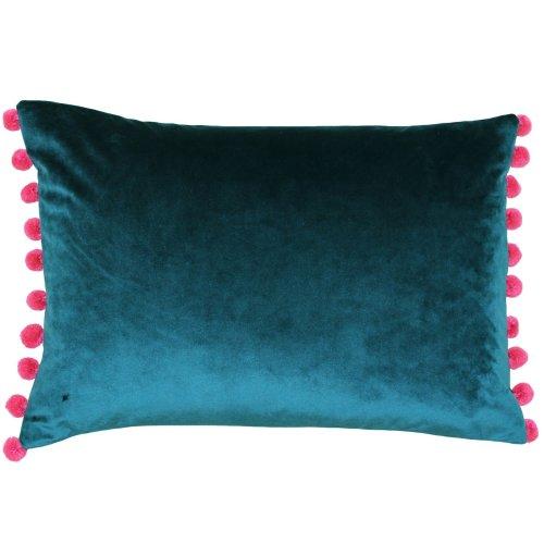 (35 x 50cm, Teal/Berry) Paoletti Fiesta Rectangle Cushion Cover