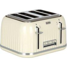 Breville Impressions Collection VTT702 4 Slice Toaster - Cream