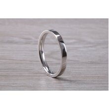 2.50 mm Wide Flat Comfort Fit Profile Wedding Band, made from solid 9ct White Gold