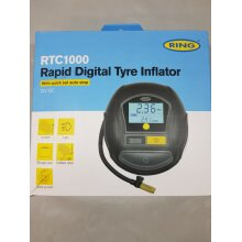 Ring RTC1000 Rapid Digital Tyre Inflator with Quick Set Autostop 12vDC