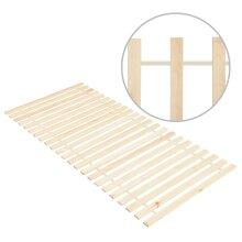 vidaXL Solid Pine Wood Roll-up Bed Base with 23 Slats 90x200 cm Bedroom Slats