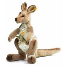 Steiff Kango Kangaroo With Baby (Beige)