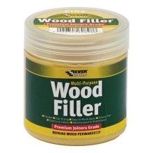 Everbuild Multi Purpose Premium Joiners Grade Wood Filler Stainable Medium 250ml