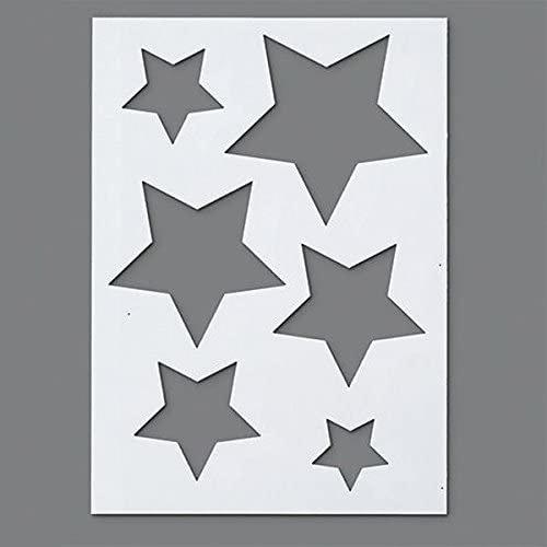 Efco Stencil Stars / 6 Designs DIN A 5, 21 x 15 x 1 cm