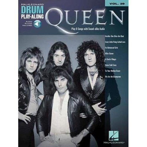 Queen Drum Play-Along Vol 29 Book/Audio