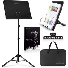 CAHAYA 2 in 1 Dual-use Sheet Music Stand & Desktop Book Stand