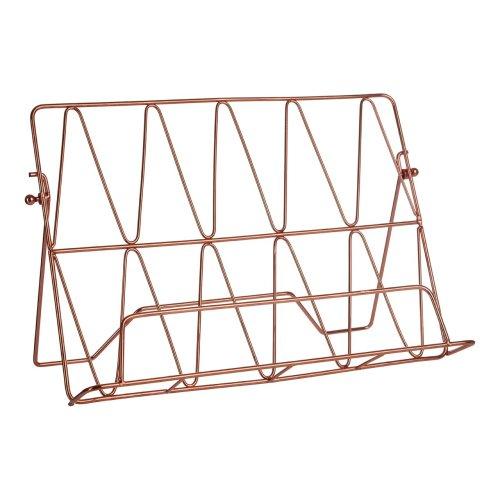 Vertex Copper Cookbook Stand   Copper Plated Recipe Book Holder