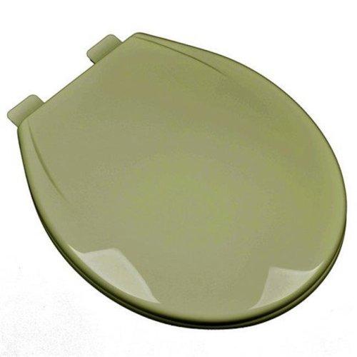 Slow Close Plastic Round Front Contemporary Design Toilet Seat, Avocado