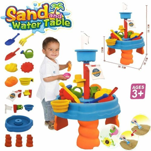 SAND AND WATER TABLE WATERING CAN & SPADE & MORE KIDS GARDEN SANDPIT TOY SET 316