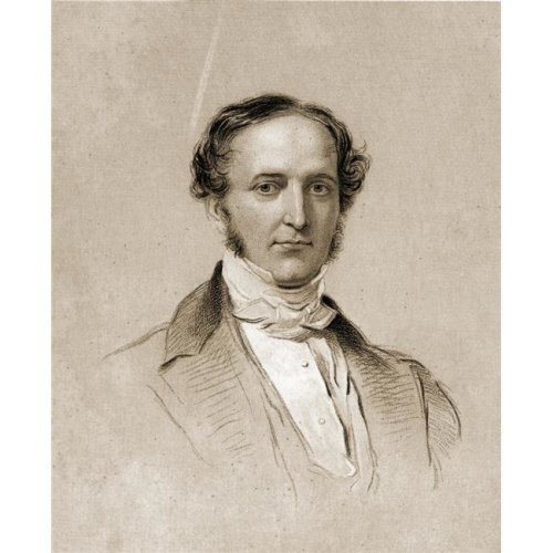 William H. Prescott 1796-1859 English Historian & Author. Drawn by George Poster Print, 13 x 16