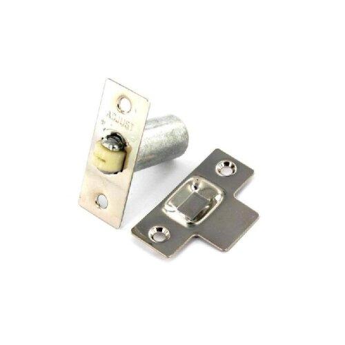 SecurIt Adjustable Roller Ball Door Catch - Nickel Plated