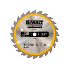 DeWalt DT1947-QZ Construction Trim Saw Blade 136 x 10mm x 24T