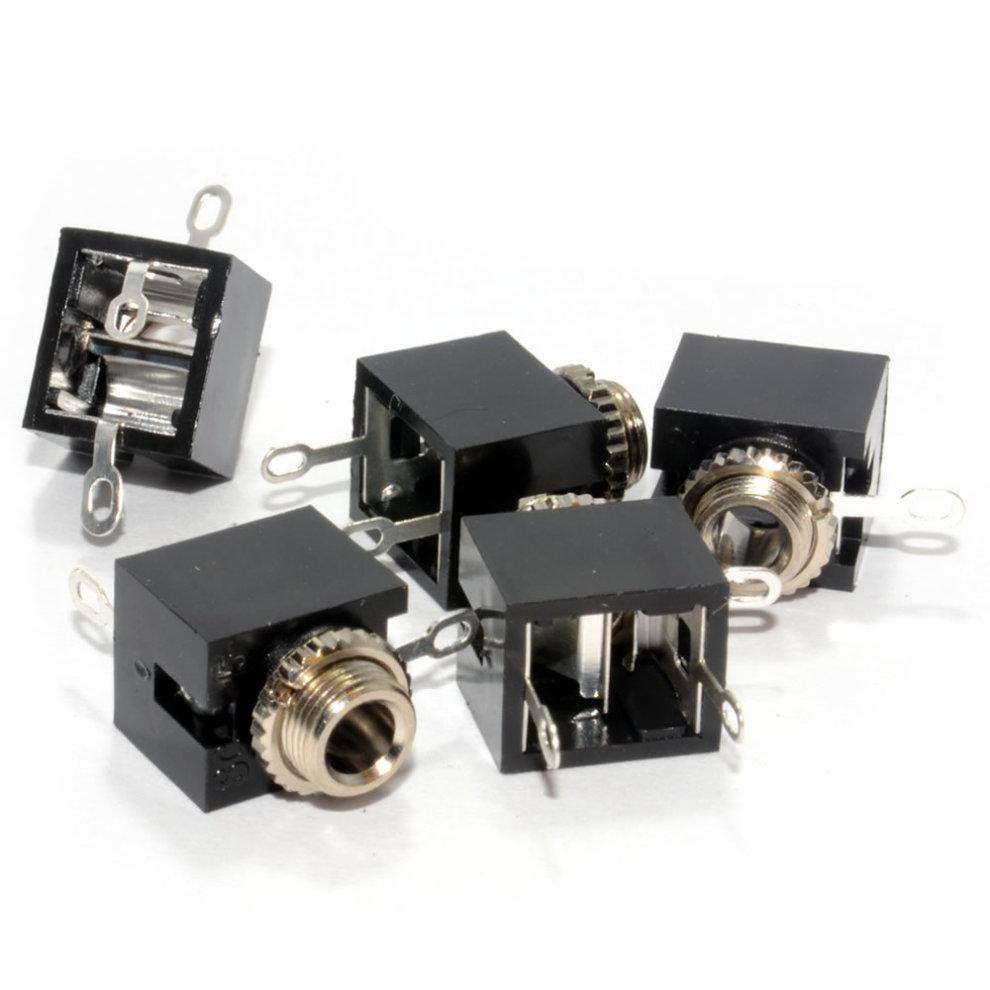 kenable 3.5mm 3 Pole Stereo Jack Socket Solder Chassis Mount [5 Pack]