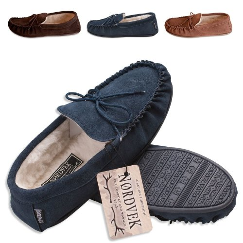 mens moccasin mule slippers