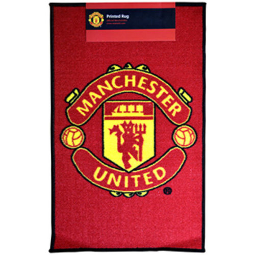Manchester United Fc Crest Floor Rug - Official New Football -  manchester united rug fc official new football