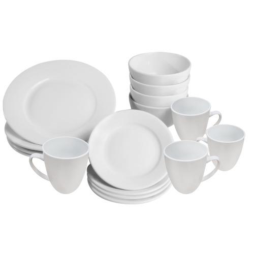16 Piece White Dinner Set | M&W