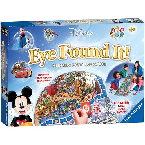 Ravensburger 21332 Disney Eye Found Kids Age 4 Years and up-Search for The Hidden Picture in This Colourful 6ft Game Board