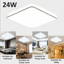 24W Bright Square LED Ceiling Down Light Panel Wall Kitchen Bathroom