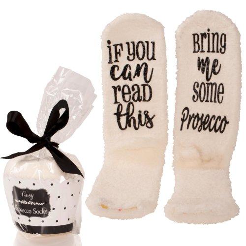 Bring Me Prosecco Slipper Socks