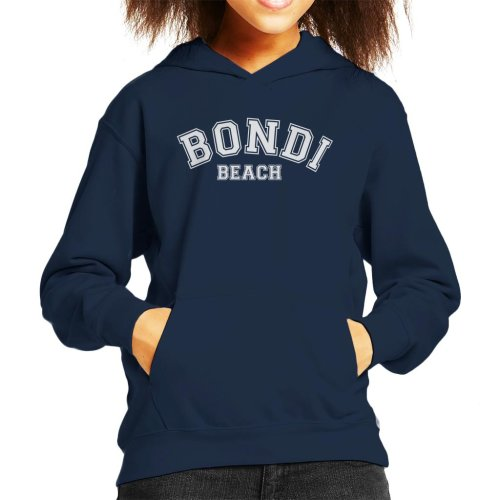Bondi Beach College Text Kid's Hooded Sweatshirt