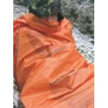 BCB CL044 EMERGENCY HI-VIS HEAVY DUTY POLYTHENE PRINTED SURVIVAL SLEEPING BIVI BAG X2