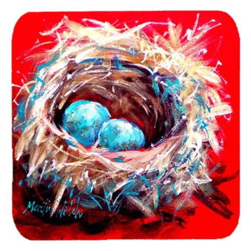 Bird Egg-Stra Speical Foam Coasters, Set Of 4