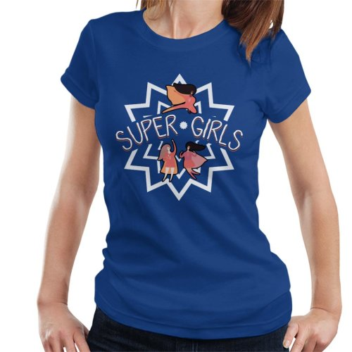 (Large, Royal Blue) Super Girls Women's T-Shirt