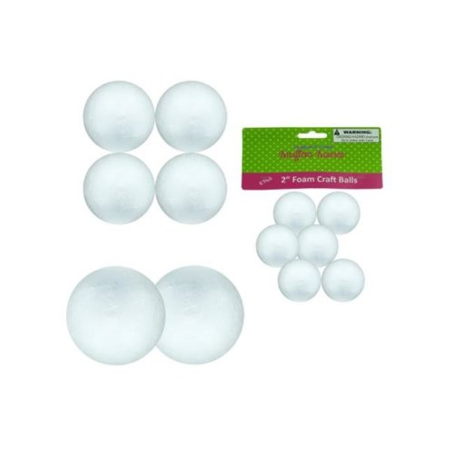 Bulk Buys CC392-12 Foam Craft Balls, Large