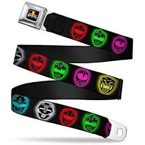 Seatbelt Belt - Power Rangers - V.41 Adj 24-38' Mesh New pra-wpr042