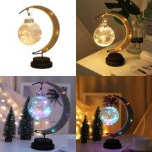 LED RGB Moon Ball Table Lamp Battery Powered Night Light Bedside Fairy Light