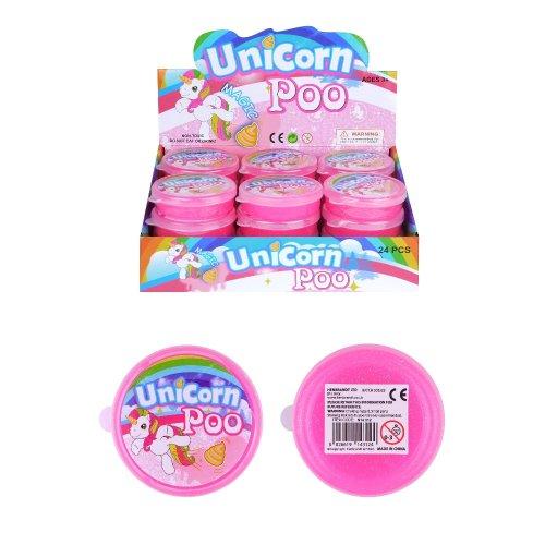 Unicorn Poo Pink Glitter Slime Putty Tub Squishy Stress Relief Toy Childrens Kids