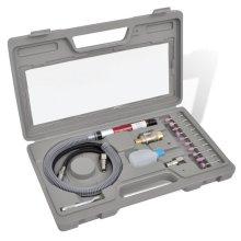 vidaXL Airpress Pneumatic Tool Kit Grinder Set Grinding Polishing Derusting