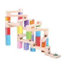 Bigjigs Toys Wooden Marble Run Construction Building Set