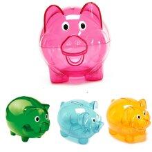 Piggy Bank Clears Money Box Coins Children Saving