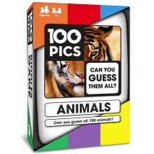 100 PICS Animals Quiz Card Game - Educational Travel Trivia Family Flash Card Puzzle Games for Smart Kids