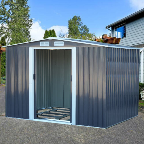 10ft x 8ft Metal Garden Shed Outdoor Tool shed Garden Storage