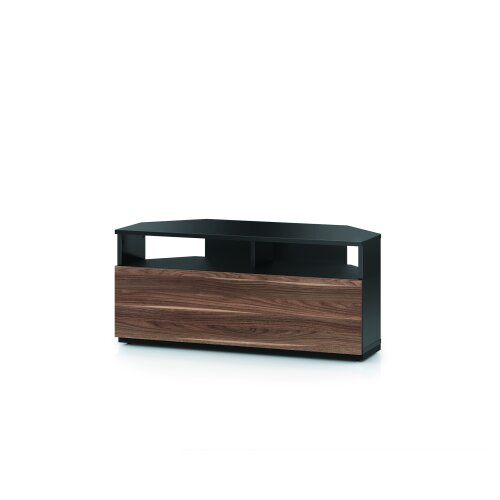 SONOROUS TRD100 100cm Corner TV Stand For Screens up to 50 inch - Black & Walnut, Black