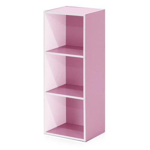 Corner Three Tier Bookcase White.Opens