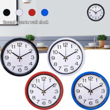 """8"""" Classic Round Wall Clock Silent Sweep Movement Home Bedroom Kitchen Room Decor"""